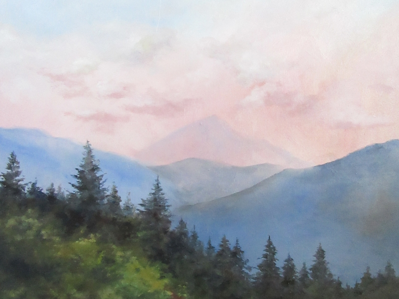 pine mountain landscape oil painting