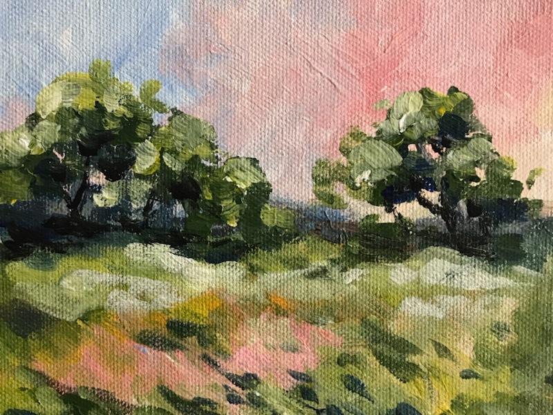 sunset landscape acrylic painting