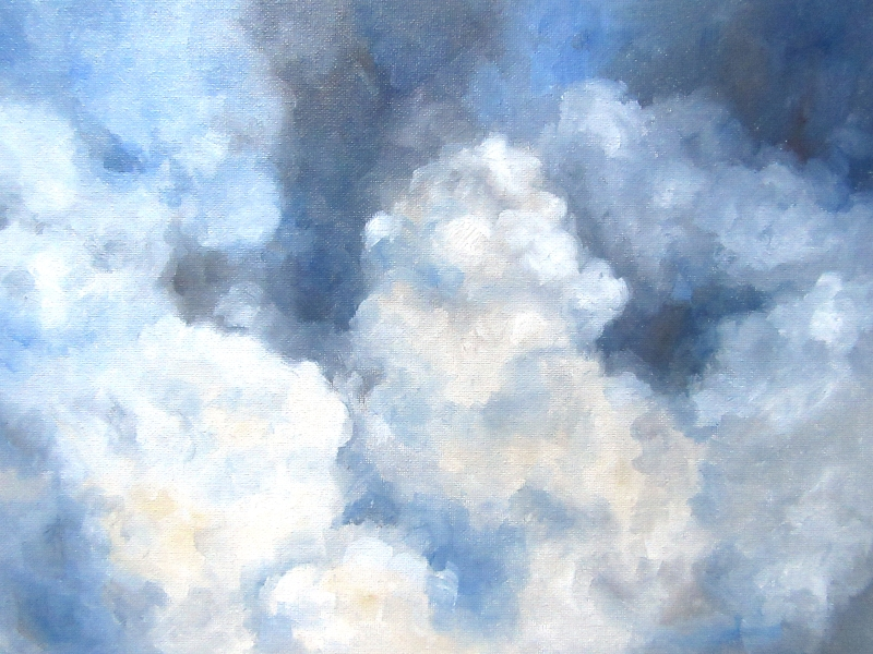 cloud study oil painting