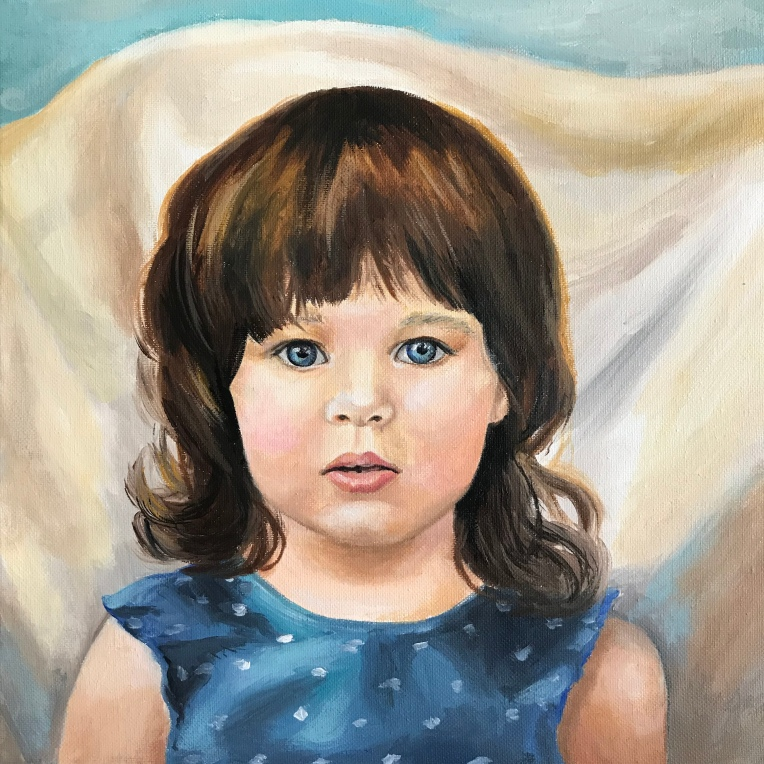 girl child portrait painting