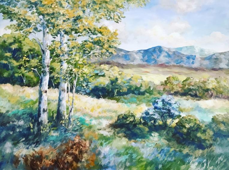colorado landscape acrylic painting