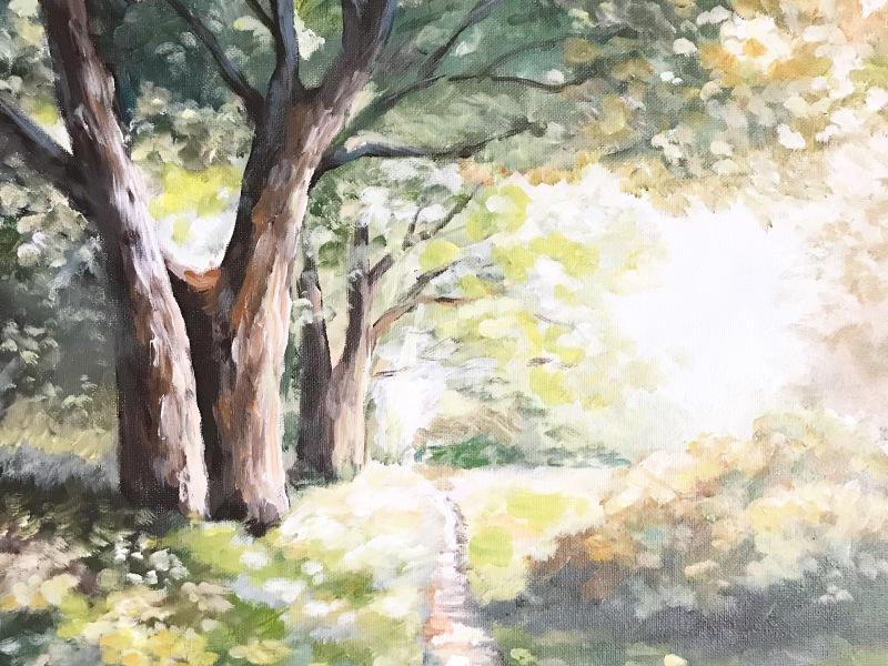 woodland pathway landscape painting
