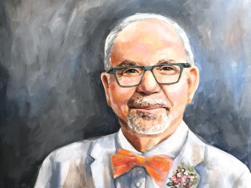 formal man oil portrait