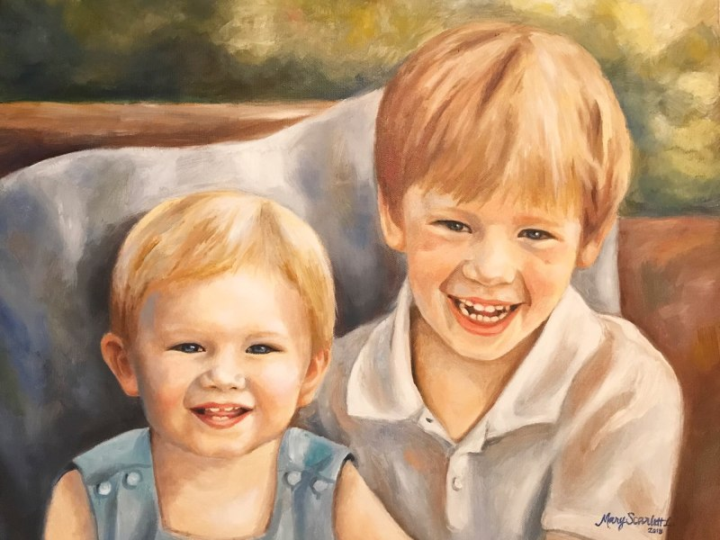 two brothers portrait painting